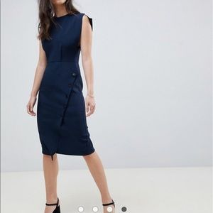 NWT Navy asos fitted sheath dress 👗